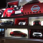 Nissan's dancing cars display at Olympic Park