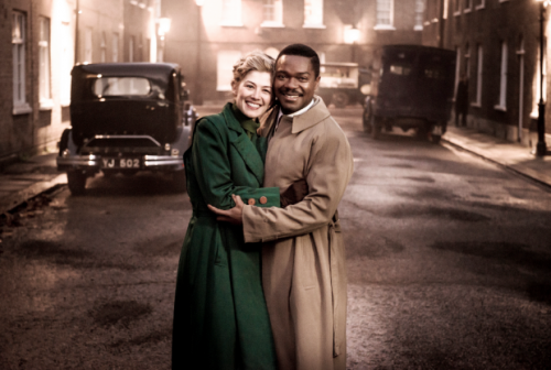 "Rosamund Pike & David Oyelowo as Ruth Williams & Sir Seretse Khama in ""A United Kingdom"""