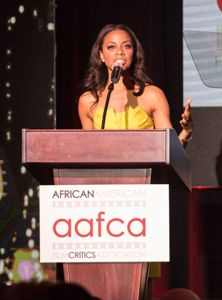 Nischelle Turner hosting the AAFCA Awards