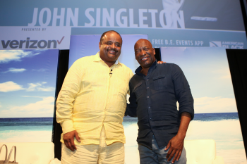 Roland S. Martin and John Singleton (Photo courtesy of TV One by Thaddaeus McAdams)