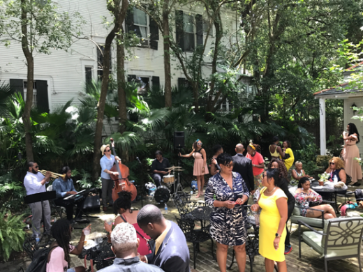 Guests at Soul of NOLA brunch enjoy the local band