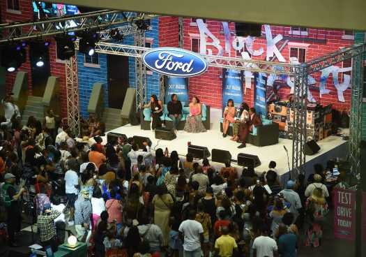 SiriusXM broadcasts from the Ford booth